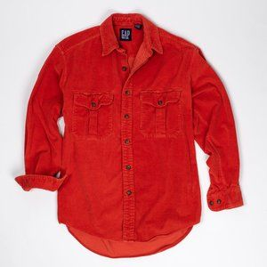 Vintage 90s Gap Red Corduroy Button Up
